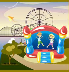 children summer activities vector image vector image