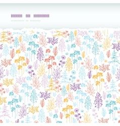 Colorful flowers and plants horizontal torn vector image vector image