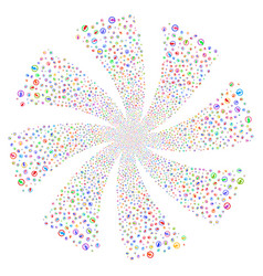 electricity fireworks swirl flower vector image