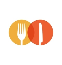 fork and knife cook utensil kitchen vector image