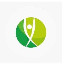 logo of winner and leader man vector image