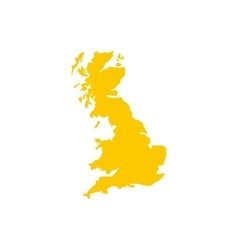 Map of Great Britain icon flat style vector image vector image