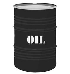 Oil barrel icon vector image
