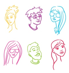 people set vector image vector image