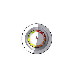 sticker screen chronometer timer counter icon vector image