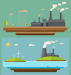 ecology concept green energy and environment vector image vector image