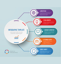 infographic for business presentation with vector image vector image