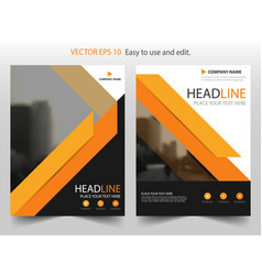 orange black brochure annual report leaflet vector image vector image