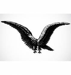 screaming eagle vector image vector image