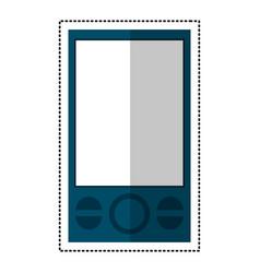 blue smartphone mobile technology communication vector image vector image