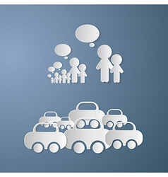 Cut Paper People With Empty Speech Bubbles and vector image
