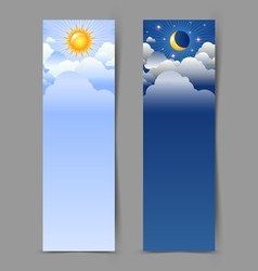 Day and night banners vector image vector image