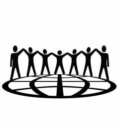 global people vector image vector image