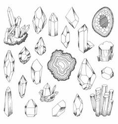 minerals set of for design vector image