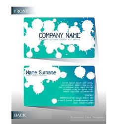 A calling card design vector