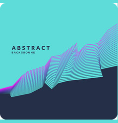 abstract geometric background with dynamic lines vector image