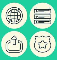 Airport icons set collection of cop symbol plane vector