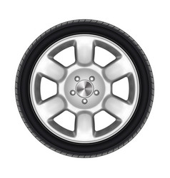 auto wheel isolated or black car tyre tire vector image