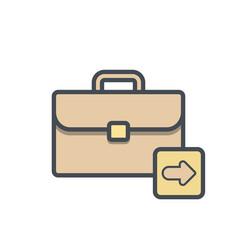 bag briefcase business next portfolio vector image
