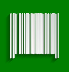 Bar code sign paper whitish icon with vector