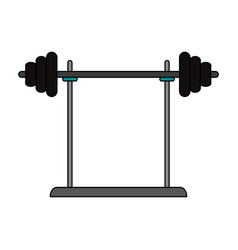 Barbell icon vector