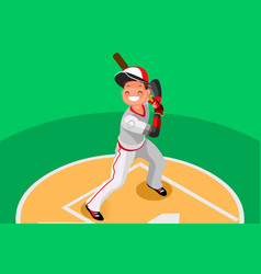 Baseball boy mascot poster vector