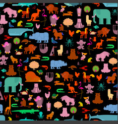 Beast pattern animals background seamless cute vector