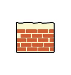 bricks wall icon vector image