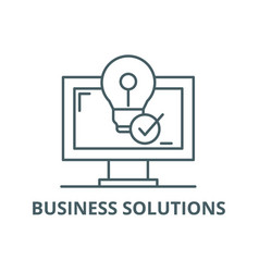 business solutions line icon business vector image