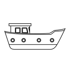 Cargo ship isolated icon vector