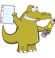 Cartoon Student Alligator vector image