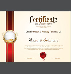 Certificate or diploma retro vintage template 2355 vector