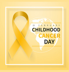 Childhood cancer day symbol 15 february yellow vector