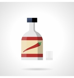 Chili on a bottle flat color icon vector