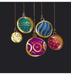 CHristmas bauble background Seasonal winter vector
