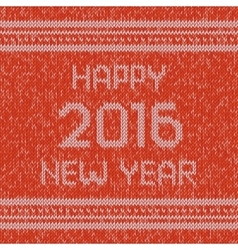 Christmas knitted sweater design pattern Happy vector image