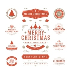 Christmas Labels and Badges Design vector image
