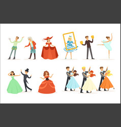 classic theater and artistic theatrical vector image