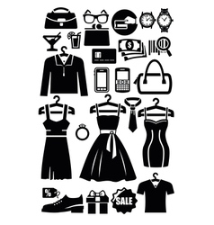 Clothing shop icon vector