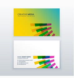 creative colorful brand business card design vector image