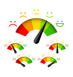 Customer satisfaction meter with different vector