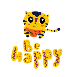cute little african tiger vector image