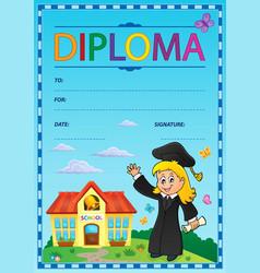 Diploma subject image 1 vector