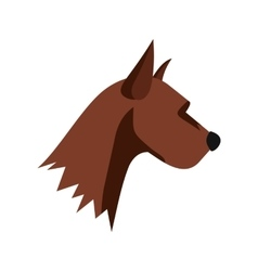 Dogs head icon flat style vector