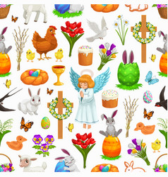 easter holiday seamless pattern background vector image