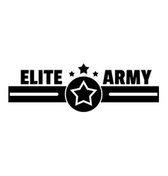 elite army logo simple style vector image