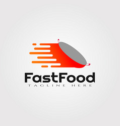 Fast food logo design food icon element vector