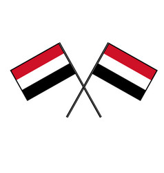 Flag of yemen stylization of national banner vector