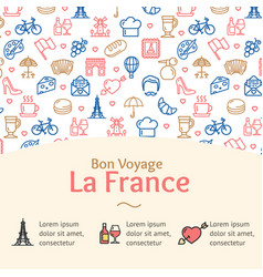 france travel concept infographics banner vector image