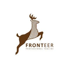 Fronteer deer logo vector